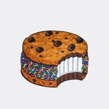 Пляжное полотенце / покрывало Ice cream cookie