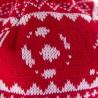 Шапка-бини с помпоном Nordic Knit красно-белая