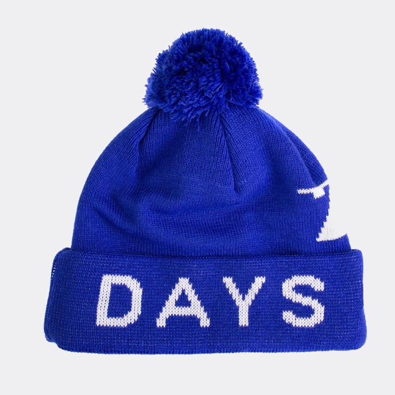 Шапка-бини с помпоном Away Days синяя