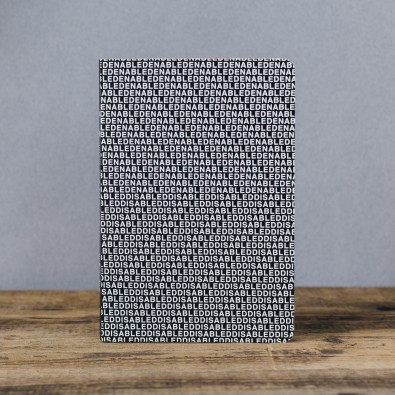 Блокнот с принтом Enabled-disabled формат А5
