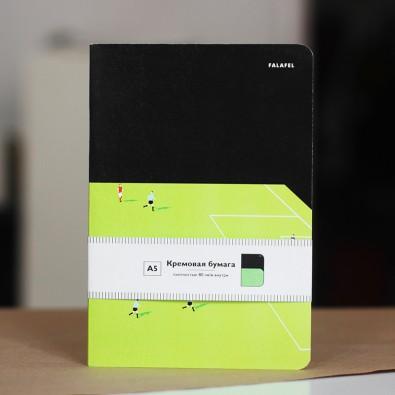 Блокнот с принтом Space Football формат А5