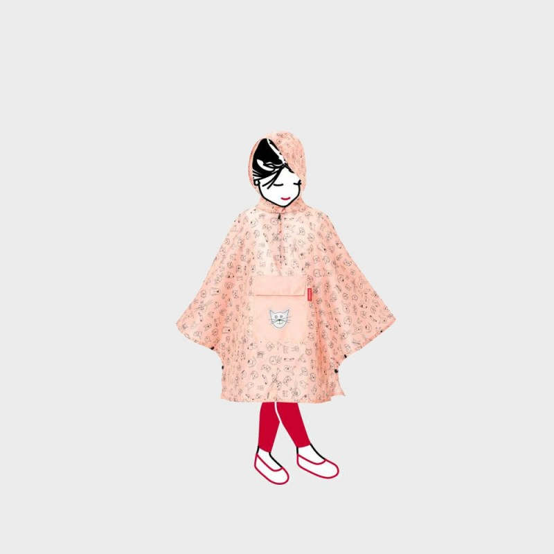 Дождевик-анорак детский Cat and Dogs розовый
