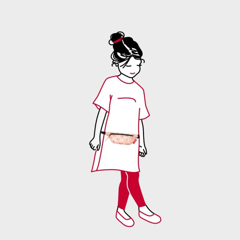 Сумка на пояс детская Сats and Dogs розовая