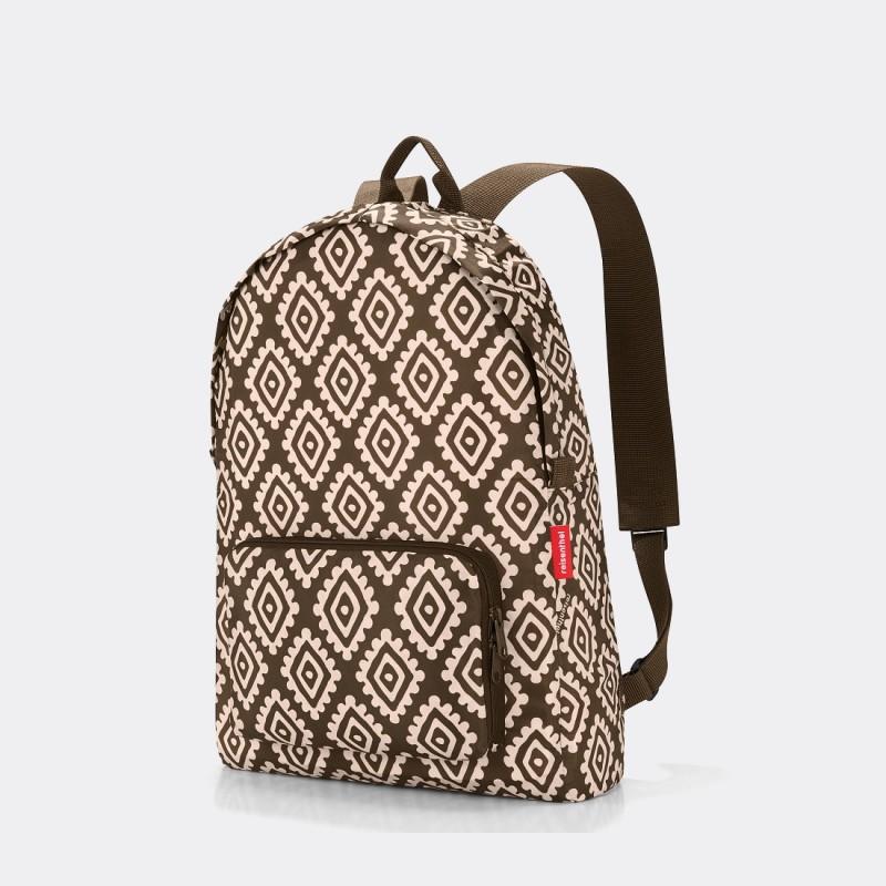 Рюкзак складной Reisenthel Mini maxi Diamonds коричневый