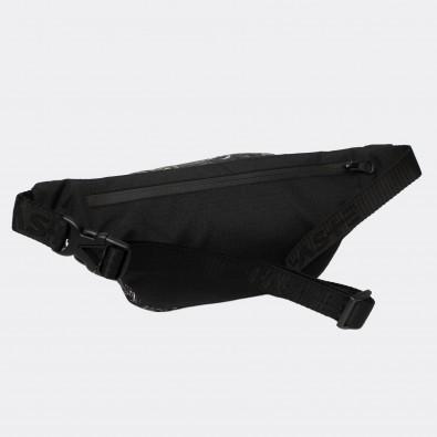 Поясная сумка с принтом Marble black