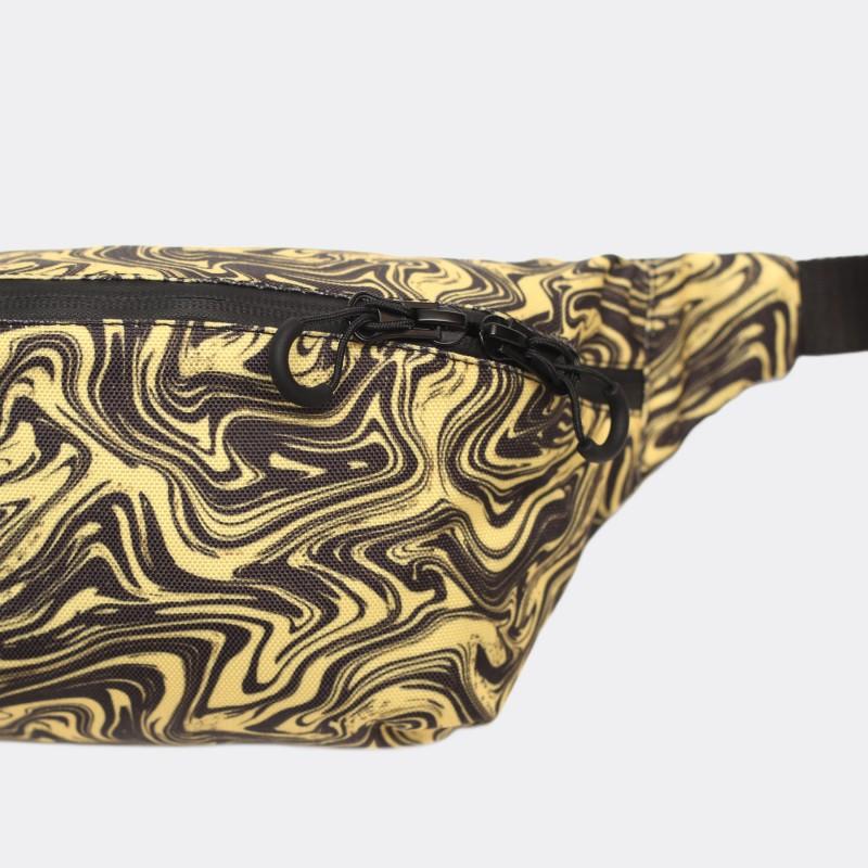 Поясная сумка с принтом Marble yellow