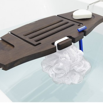 Полка / столик для ванной Aquala орех