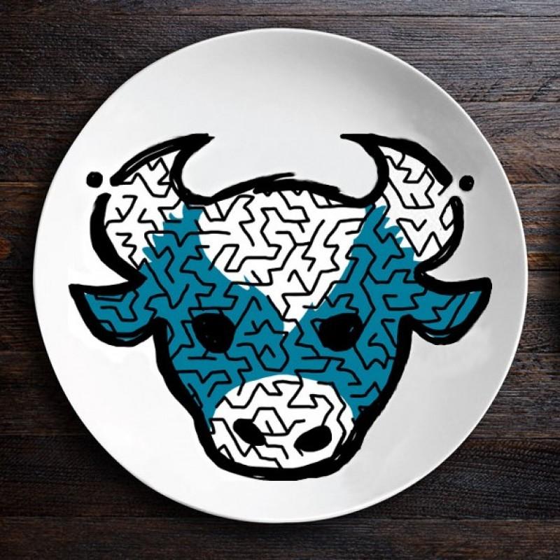 Набор тарелок лабиринтов ЗооЛаб (бык/лев)