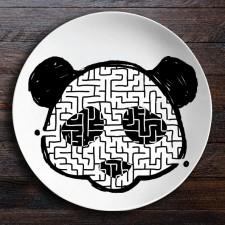 Набор тарелок лабиринтов ЗооЛаб (сова/панда)