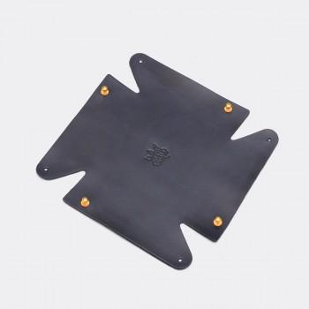 Кожаный лоток для мелочей Clover (синий)