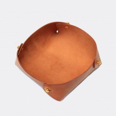 Кожаный лоток для мелочей Clover (медовый)
