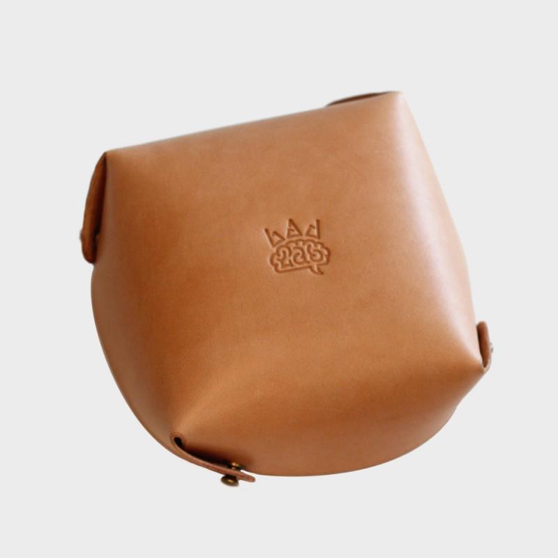 Кожаный лоток для мелочей Clover (бежевый)
