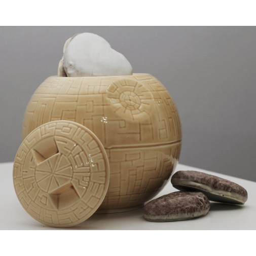 Керамическая ваза Звезда смерти (бежевая)