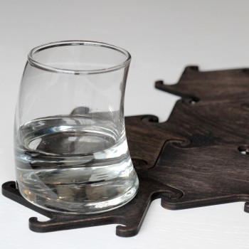 Набор деревянных подставок под горячее Hook (черный)