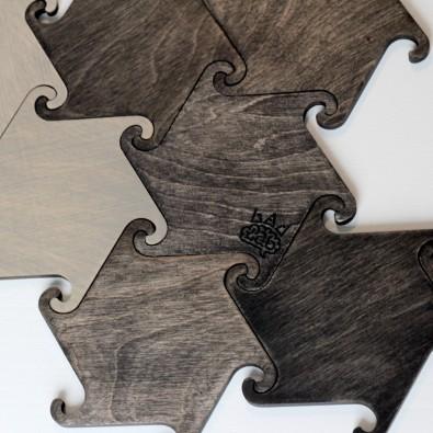 Набор деревянных подставок под горячее Hook (голубой)