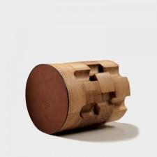 Деревянная подставка карандашница GUN