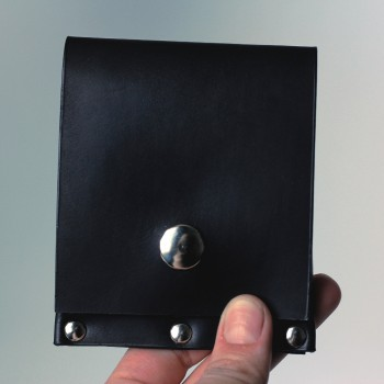 Кожаный кошелек / кардхолдер Twist (черный)