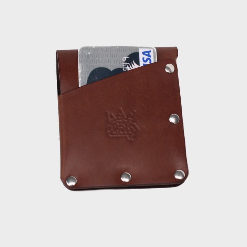 Кожаный кошелек / кардхолдер Twist (коричневый)