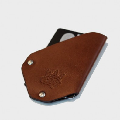 Кожаный держатель для карточек CardLovder (коричневый)