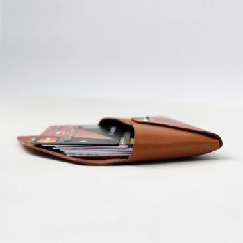 Кожаный кошелек для карточек Plick (медовый)