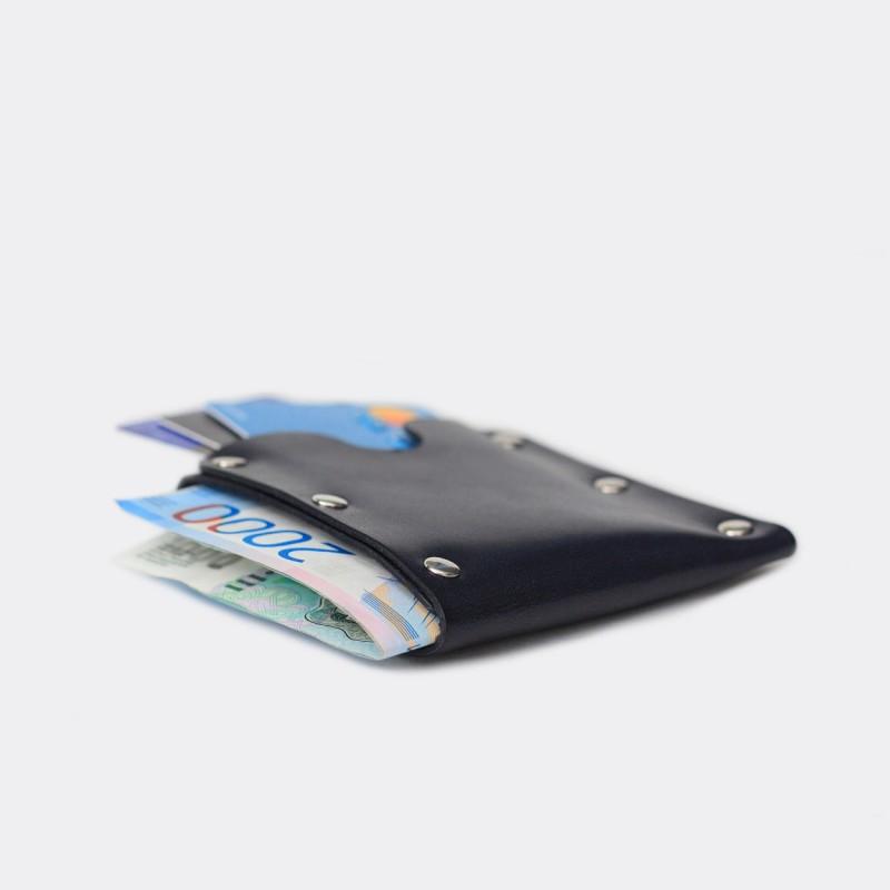 Кожаный кошелек / кардхолдер Dobb (синий)
