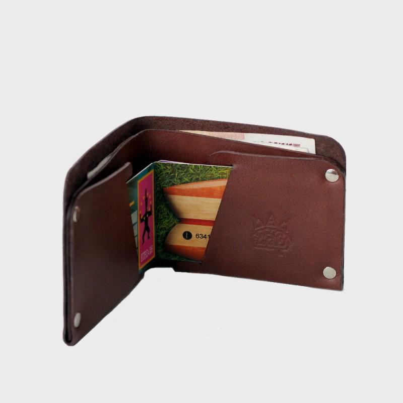 Кожаный кошелек с отделением для карт Optima (кофейный)