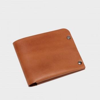 Кожаный кошелек с отделением для карт Optima (медовый)