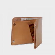 Кожаный кошелек с отделением для карт Optima (песочный)