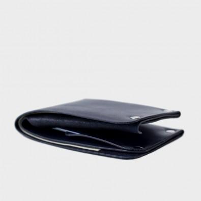Кожаный кошелек с отделением для монет Monas (синий)