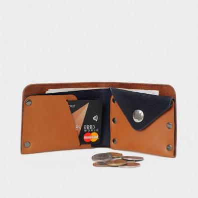 Кожаный кошелек с отделением для монет Monas (комби)
