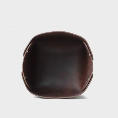 Кожаный стакан для ручек и карандашей Leass (коричневый)