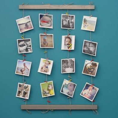Панно для фотографий на стену Fotolder (серое)