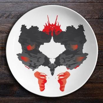 Набор керамических тарелок Ужин с Роршахом (Ниндзя/Бабочка)