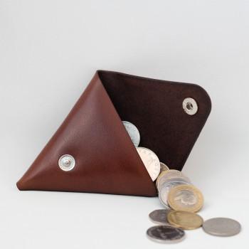 Кожаная монетница - кошелек Dalet (коричневая)