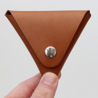Кожаная монетница - кошелек Dalet (медовая)