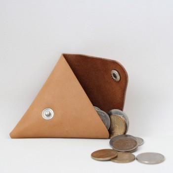 Кожаная монетница - кошелек Dalet (песочная)