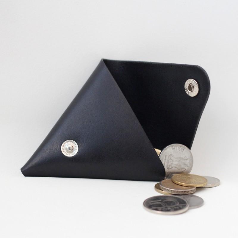Кожаная монетница - кошелек Dalet (синяя)