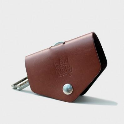 Кожаная ключница Hoke (коричневая)