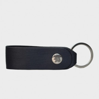 Кожаная ключница / брелок для ключей Loop (синий)
