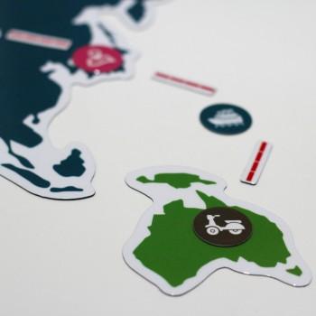 Магнитная карта мира My Trip