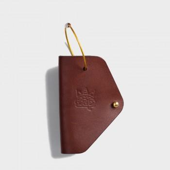 Кожаная ключница Embr с карабином (коричневая)