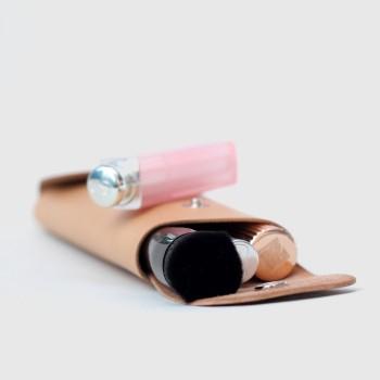 Кожаный пенал для ручек Tube (песочный)