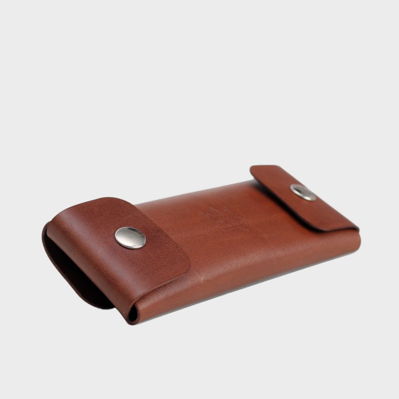 Кожаный пенал для ручек Tube (коричневый)