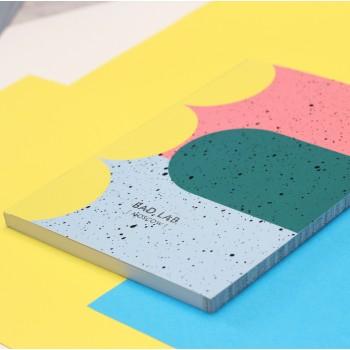 Блокнот нелинованный Fall | А5 Soft-touch (синий)