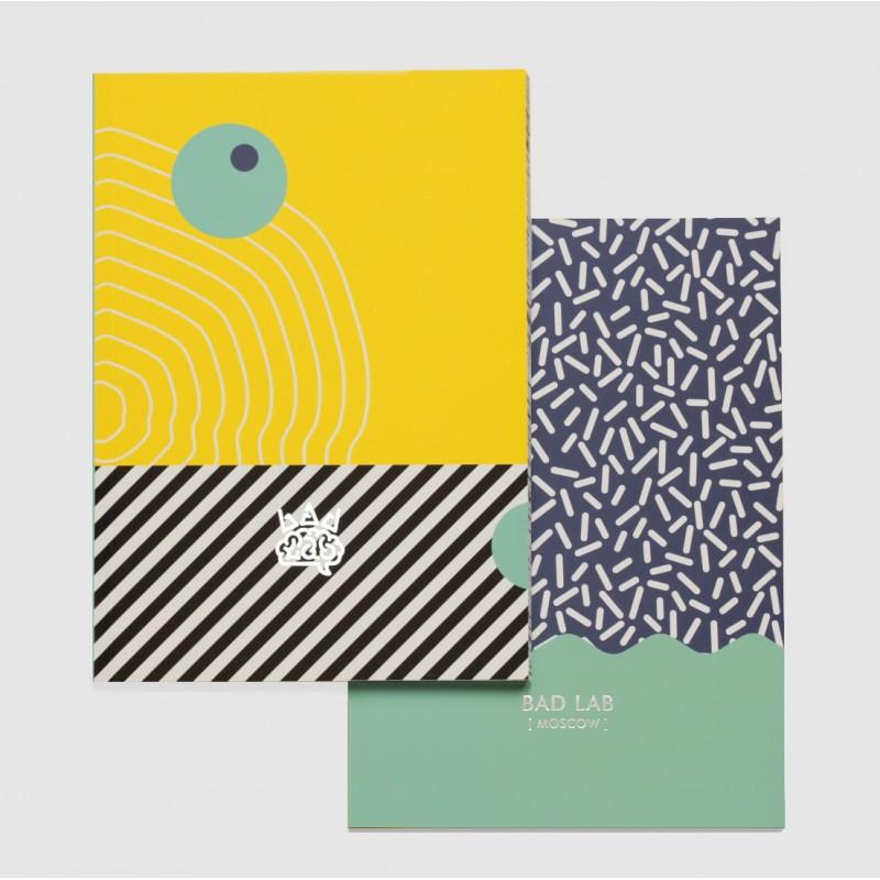 Блокнот нелинованный Ripple | А5 Soft-touch (бирюзовый)