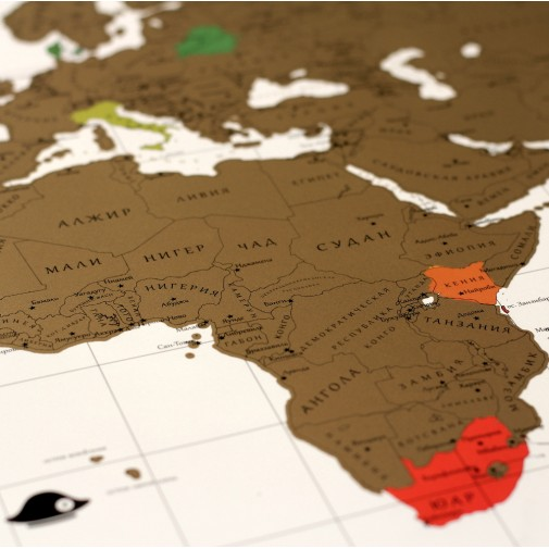Интерактивная скретч карта мира TrueMap