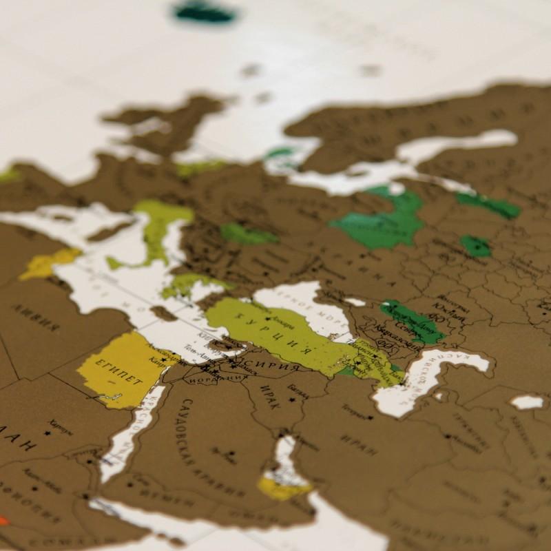 Интерактивная скретч карта мира True Map