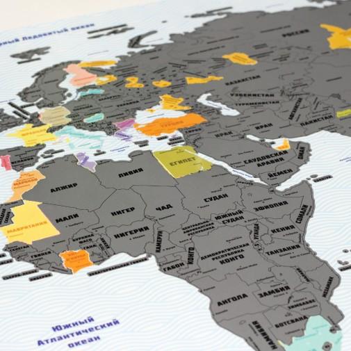 Скретч карта мира True Map Plus Silver