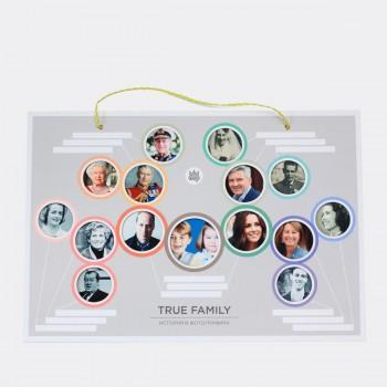 Семейное древо-фотоколлаж True Family
